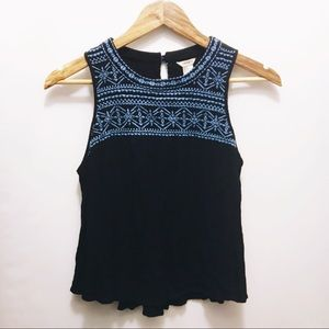 FOREVER 21 Embroidered Swing Tank Top
